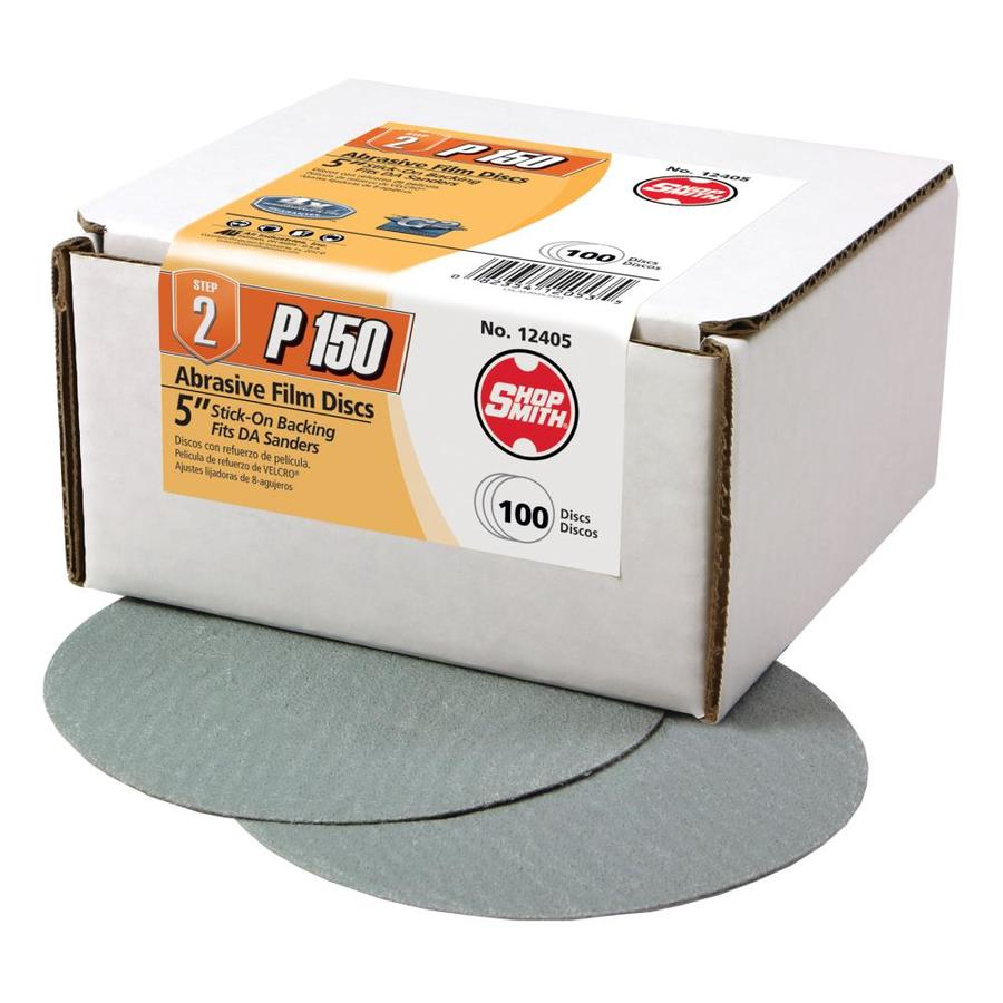 Shopsmith 100-Pack 5-in W x 5-in L 150-Grit Commercial Sanding Discs Sandpaper
