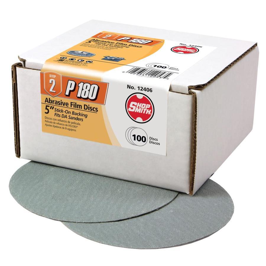 Shopsmith 100-Pack 5-in W x 5-in L 180-Grit Commercial Sanding Discs Sandpaper