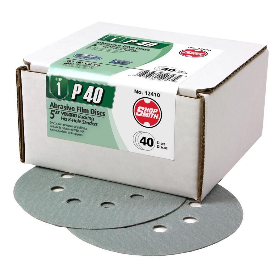 Shopsmith 40-Pack 5-in W x 5-in L 40-Grit Commercial Sanding Discs Sandpaper