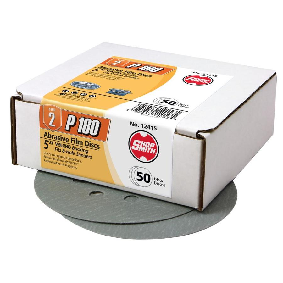 Shopsmith 50 Pack 5-in Diameter 180-Grit Commercial Sanding Disc
