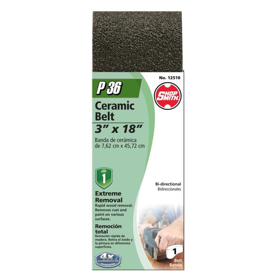 Shopsmith 3-in W x 18-in L 36-Grit Commercial Sanding Belt Sandpaper