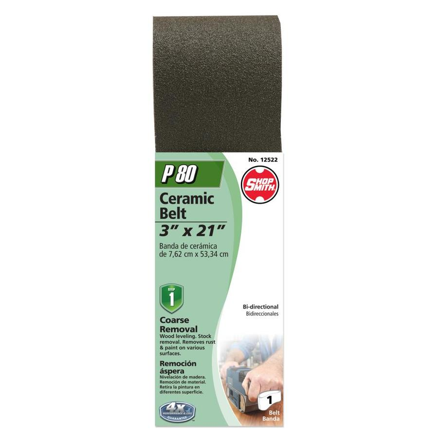 Shopsmith 3-in W x 21-in L 80-Grit Commercial Sanding Belt Sandpaper