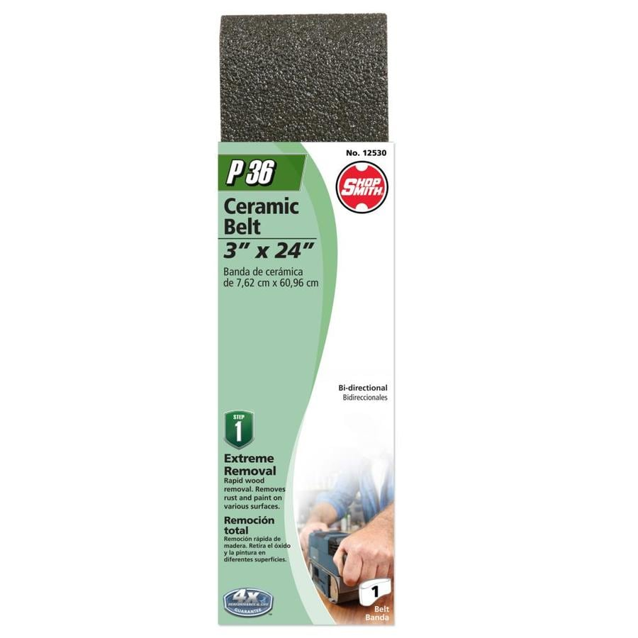 Shopsmith 3-in W x 24-in L 36-Grit Commercial Sanding Belt Sandpaper