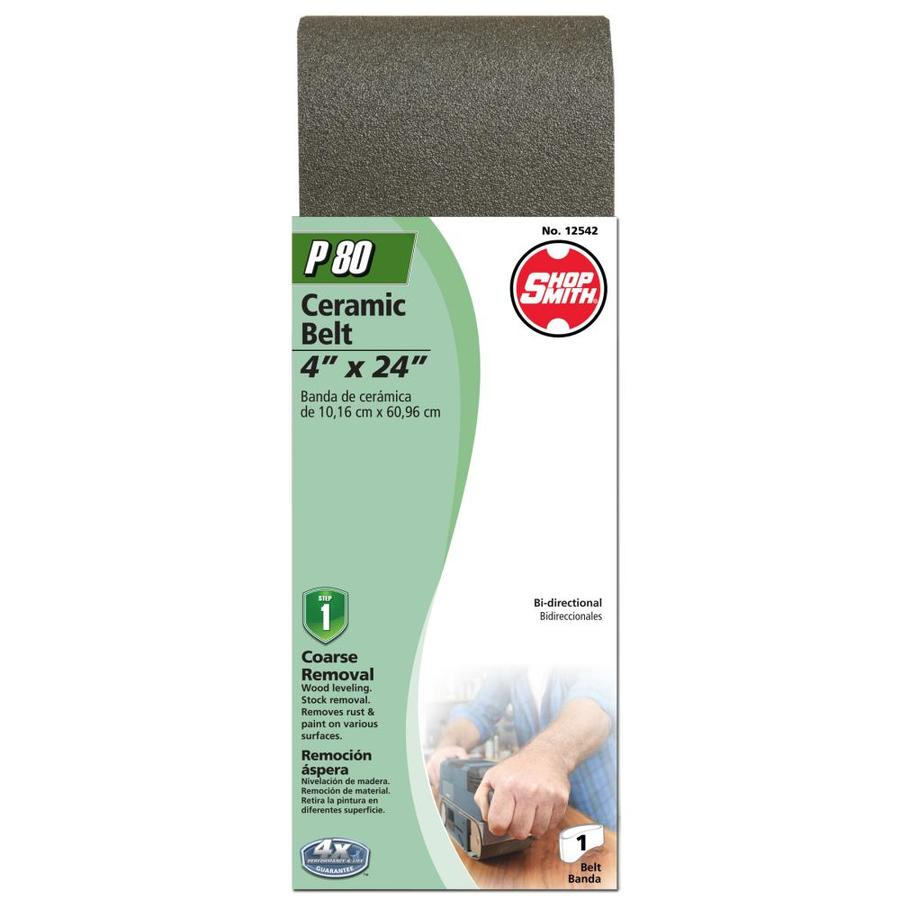 Shopsmith 4-in W x 24-in L 80-Grit Commercial Sanding Belt Sandpaper