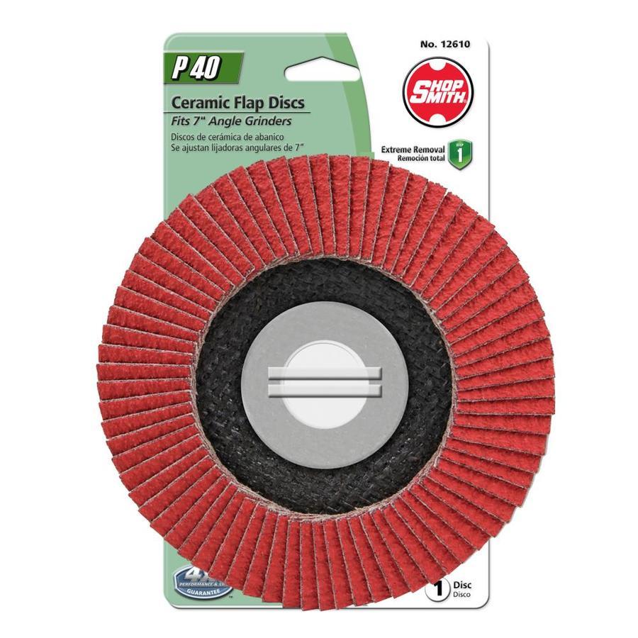 Shopsmith 7-in W x 7-in L 40-Grit Premium Flap Disc Sandpaper