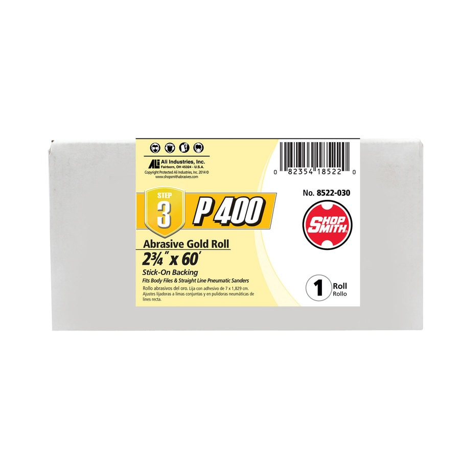 Shopsmith 2.75-in W x 720-in L 400-Grit Commercial Sanding Roll Sandpaper