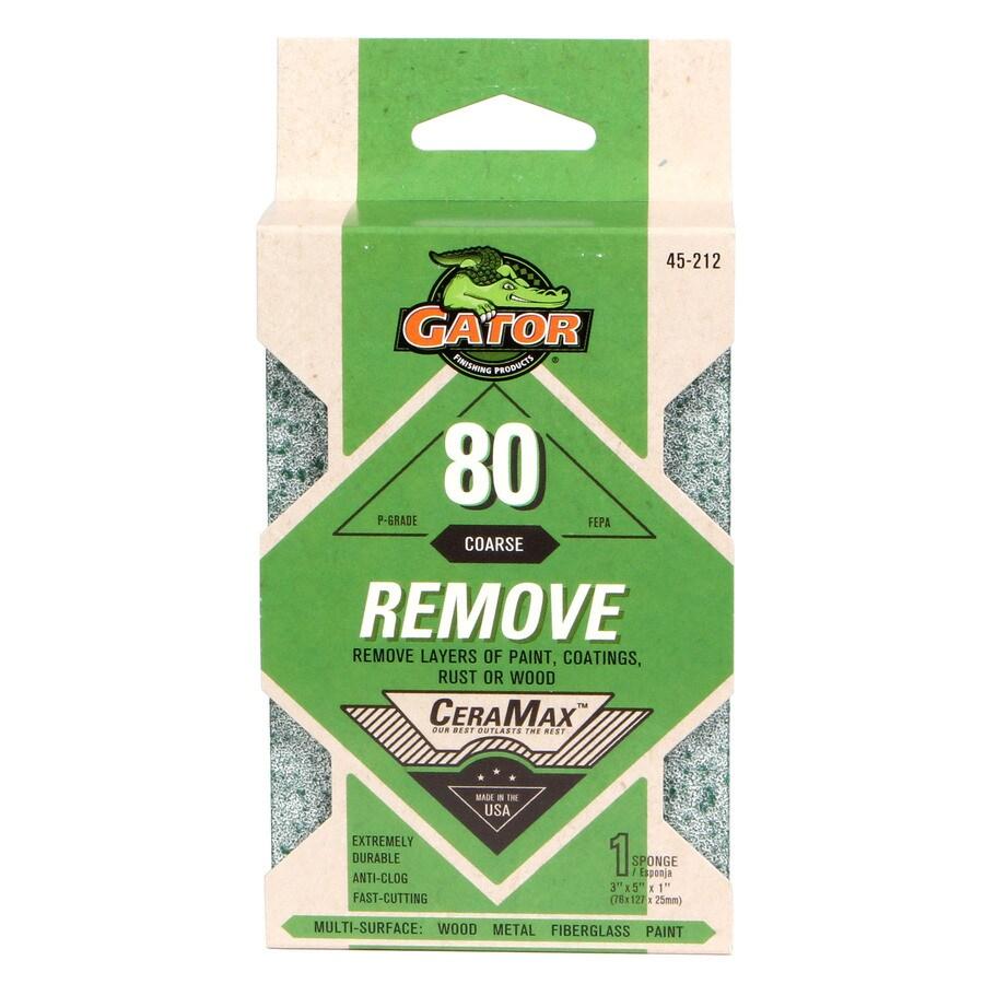 Gator 1-in x 5-in 80-Grit Commercial Sanding Sponge