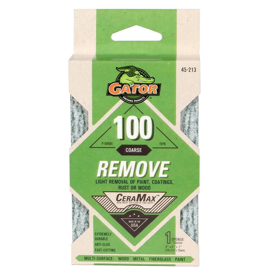 Gator 1-in x 5-in 100-Grit Commercial Sanding Sponge