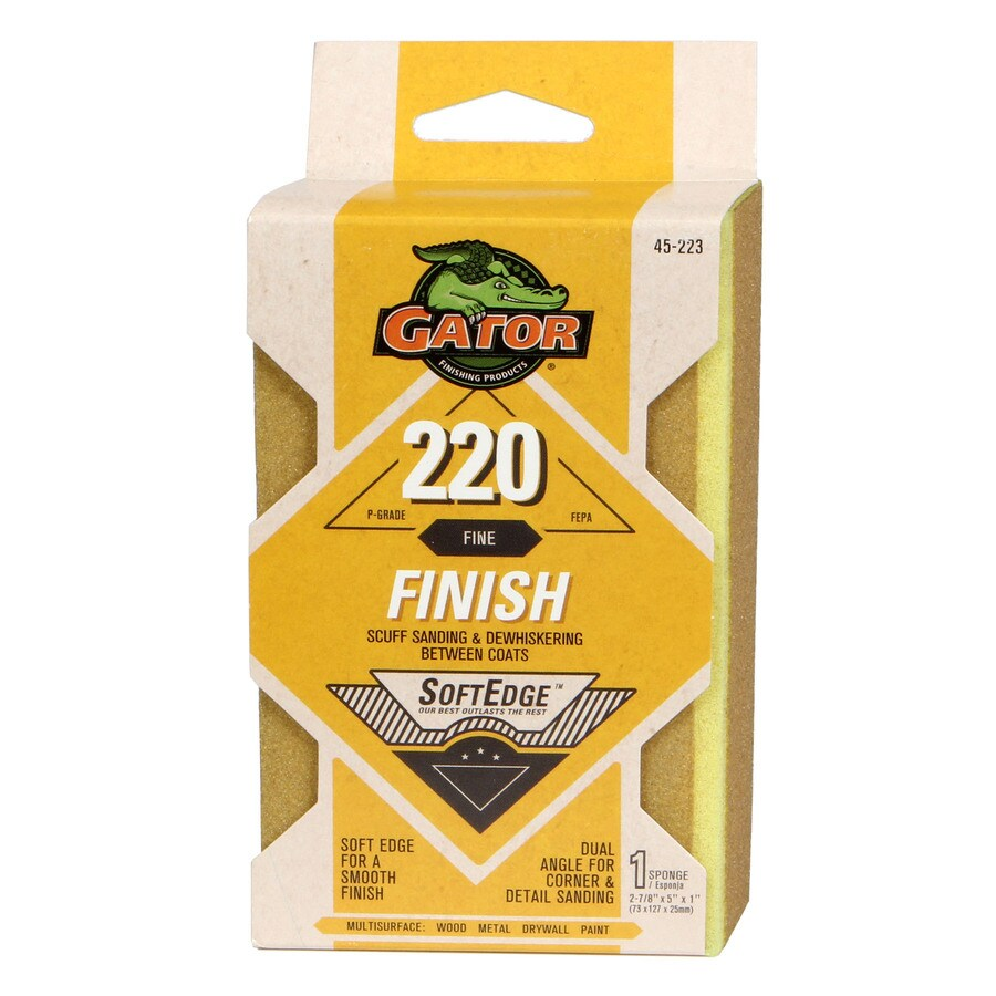 Gator 1-in x 5-in 220-Grit Commercial Sanding Sponge