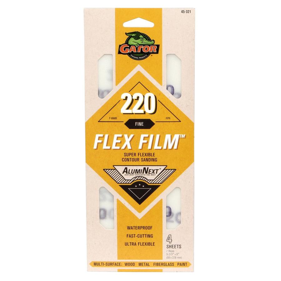 Gator AlumniNext 4-Pack 3.66-in W x 9-in L 220-Grit Premium 1/3 Sanding Sheet Sandpaper