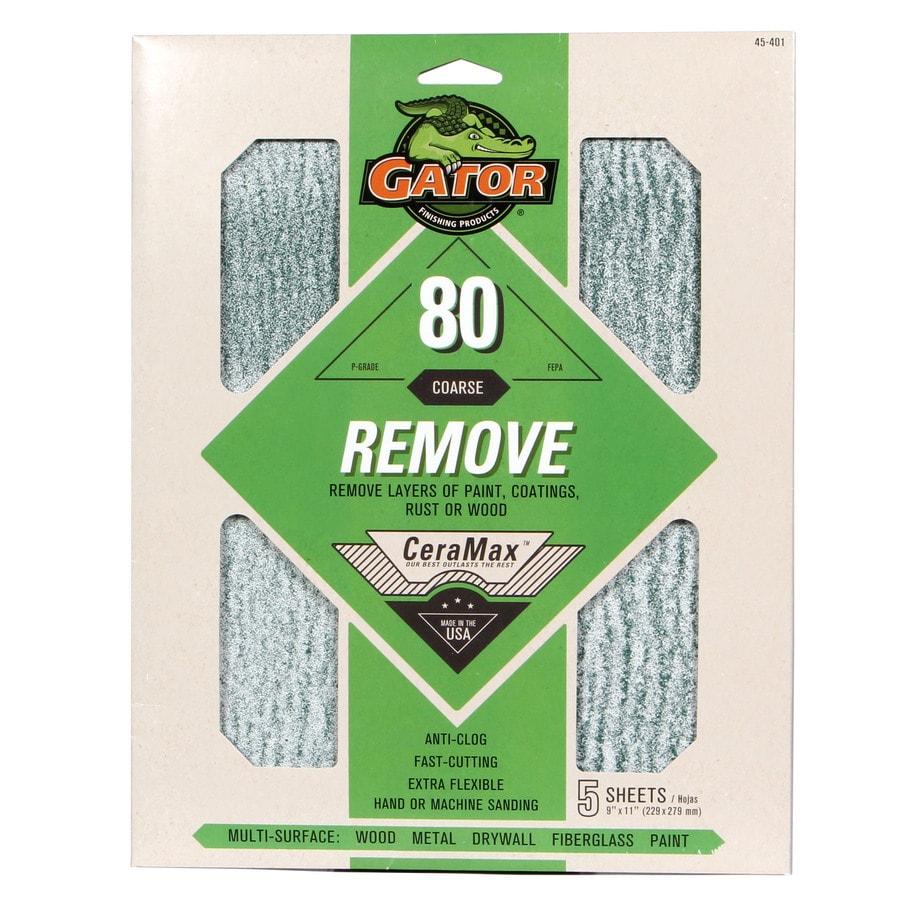 Gator CeraMax 5-Pack 9-in W x 11-in L 80-Grit Premium Sanding Sheet Sandpaper