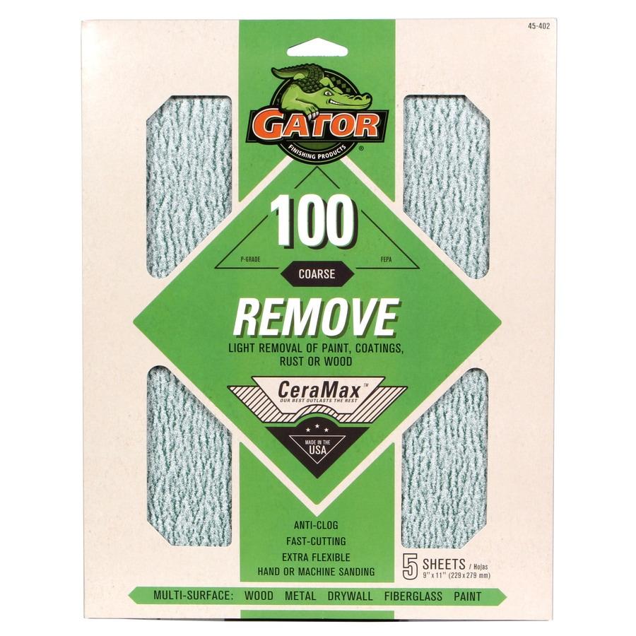 Gator CeraMax 5-Pack 9-in W x 11-in L 100-Grit Premium Sanding Sheet Sandpaper