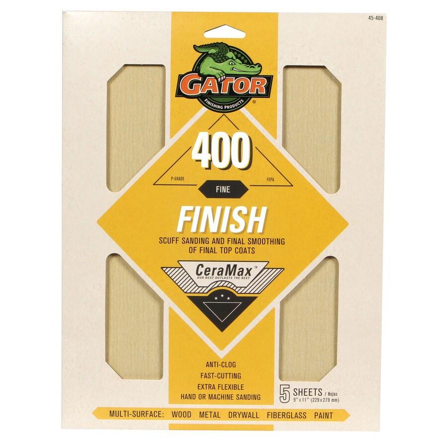 Gator CeraMax 5-Pack 9-in W x 11-in L 400-Grit Premium Sandpaper Sheets