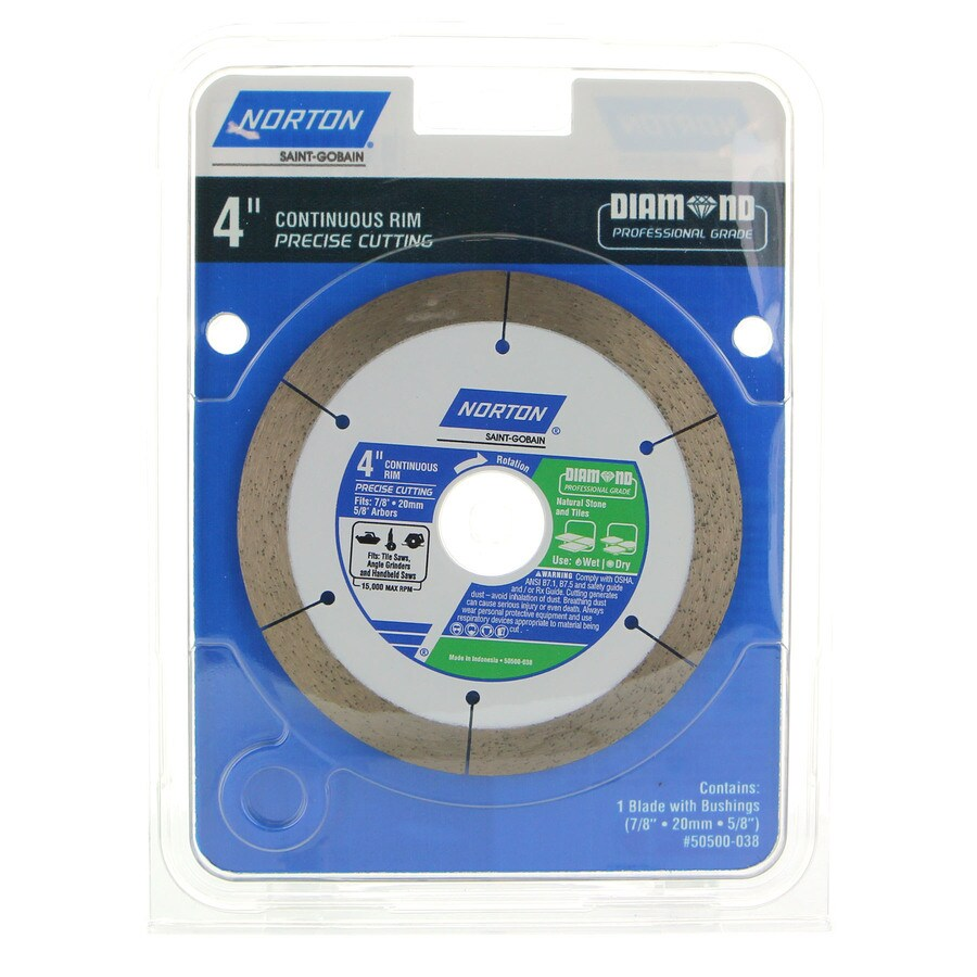Norton 4-in Wet Or Dry Cut Continuous Diamond Circular Saw Blade