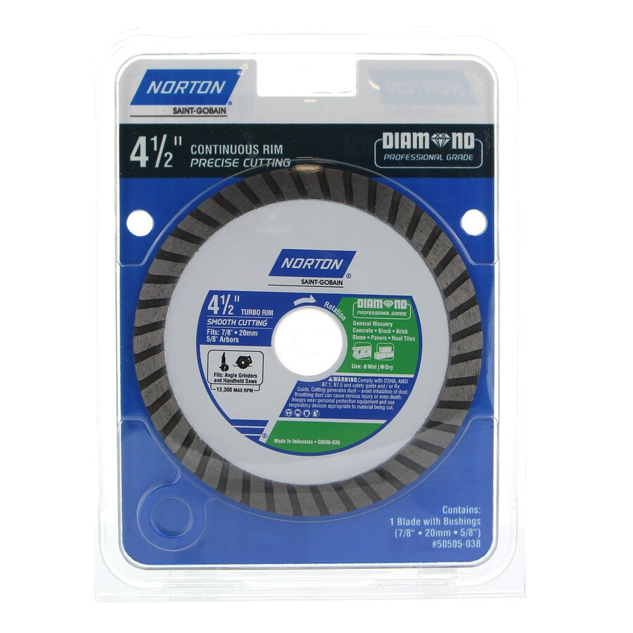 Norton 4 1 2 In Wet Dry Continuous Diamond Saw Blade