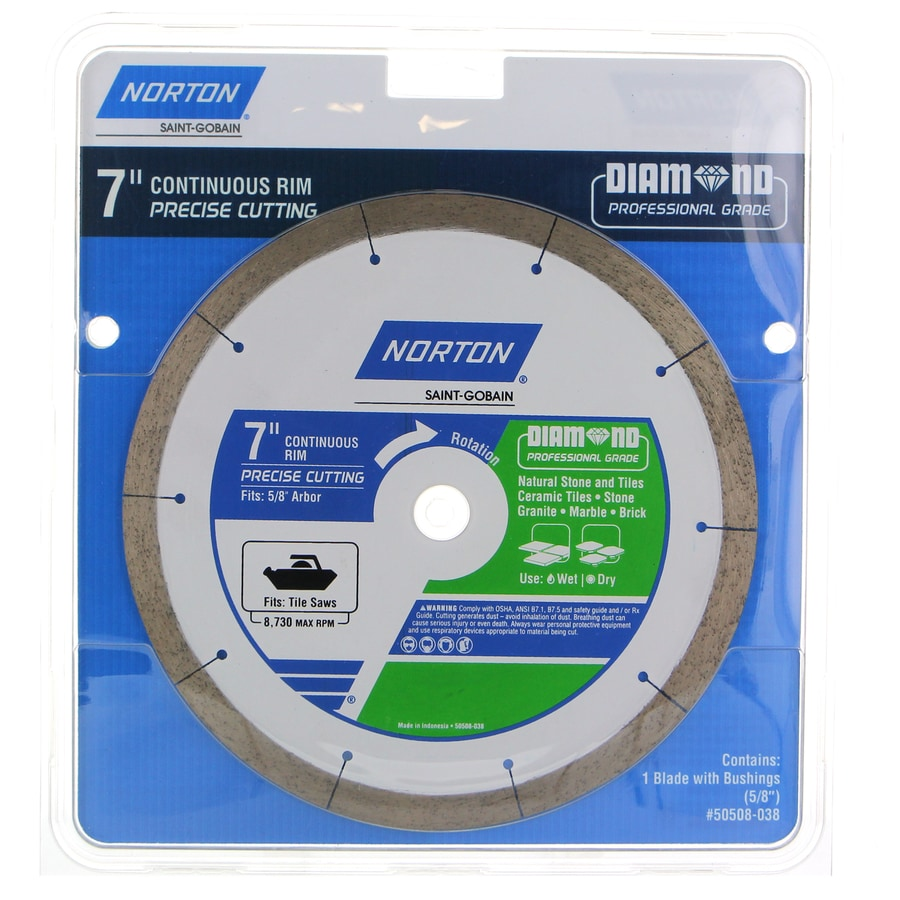 Norton 7-in 1-Tooth Wet Or Dry Cut Continuous Diamond Circular Saw Blade