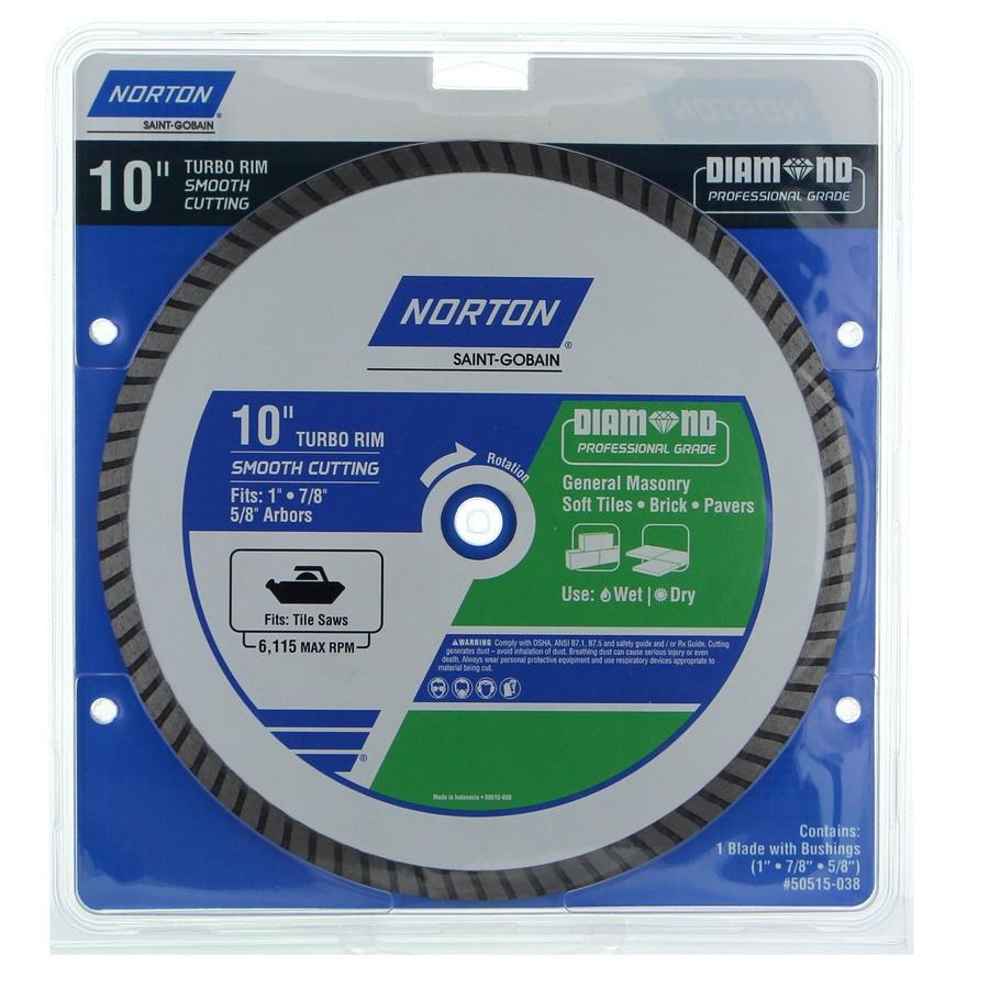 Norton 10-in Wet Or Dry Cut Turbo Diamond Circular Saw Blade