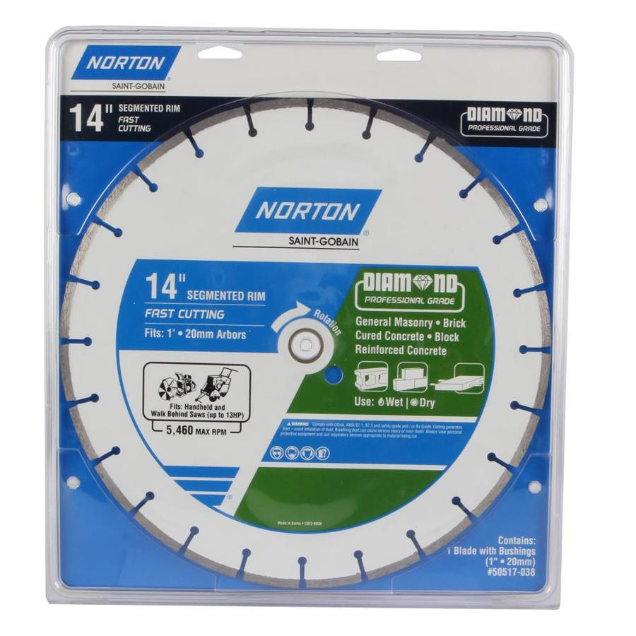 Norton 14-in Wet Or Dry Cut Segmented Diamond Circular Saw Blade