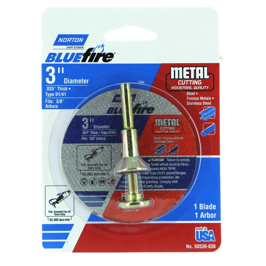 Norton Blue Fire Bonded Abrasive 3-in Cut-Off Wheel