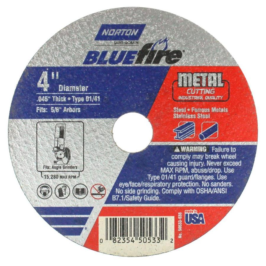 Norton Bluefire Bonded Abrasive 4-in Cut-Off Wheel