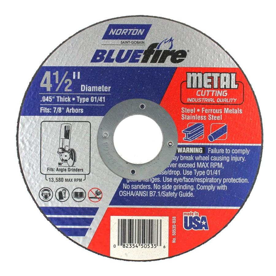 Norton Bluefire Bonded Abrasive 4.5-in Cut-off Wheel