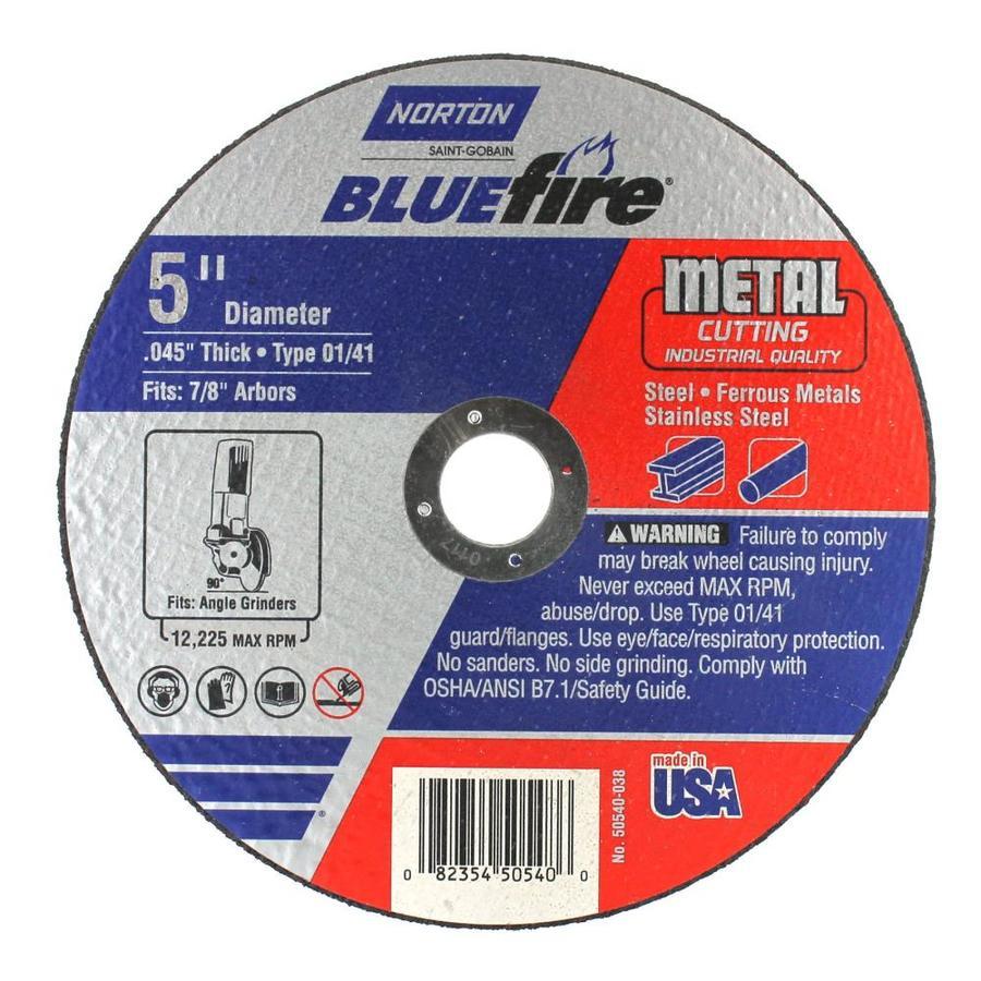 Norton Bluefire Bonded Abrasive 5-in Cut-off Wheel