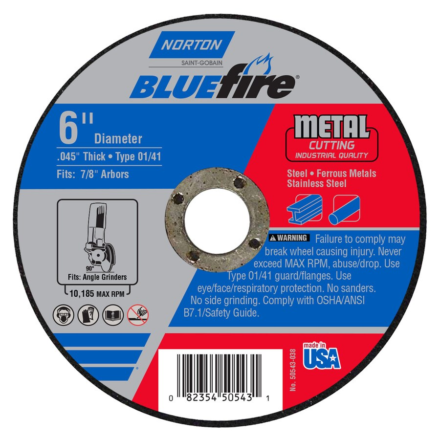 Norton Bluefire Bonded Abrasive 6-in Cut-Off Wheel