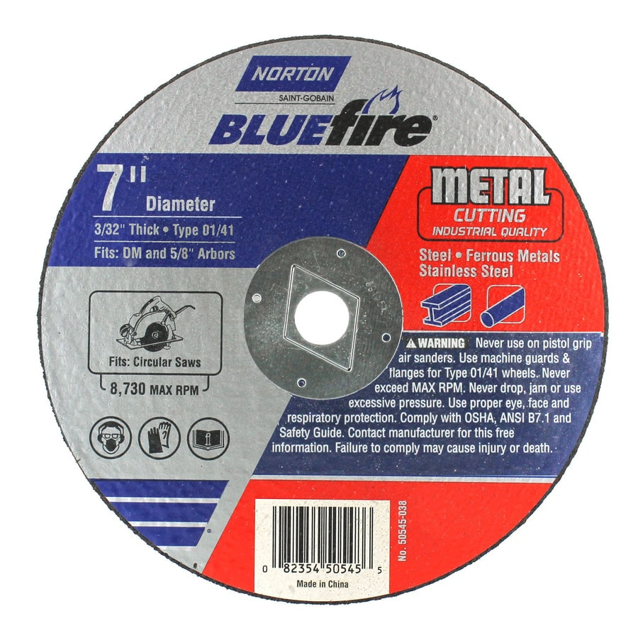 Norton Bluefire Bonded Abrasive 7-in Cut-Off Wheel