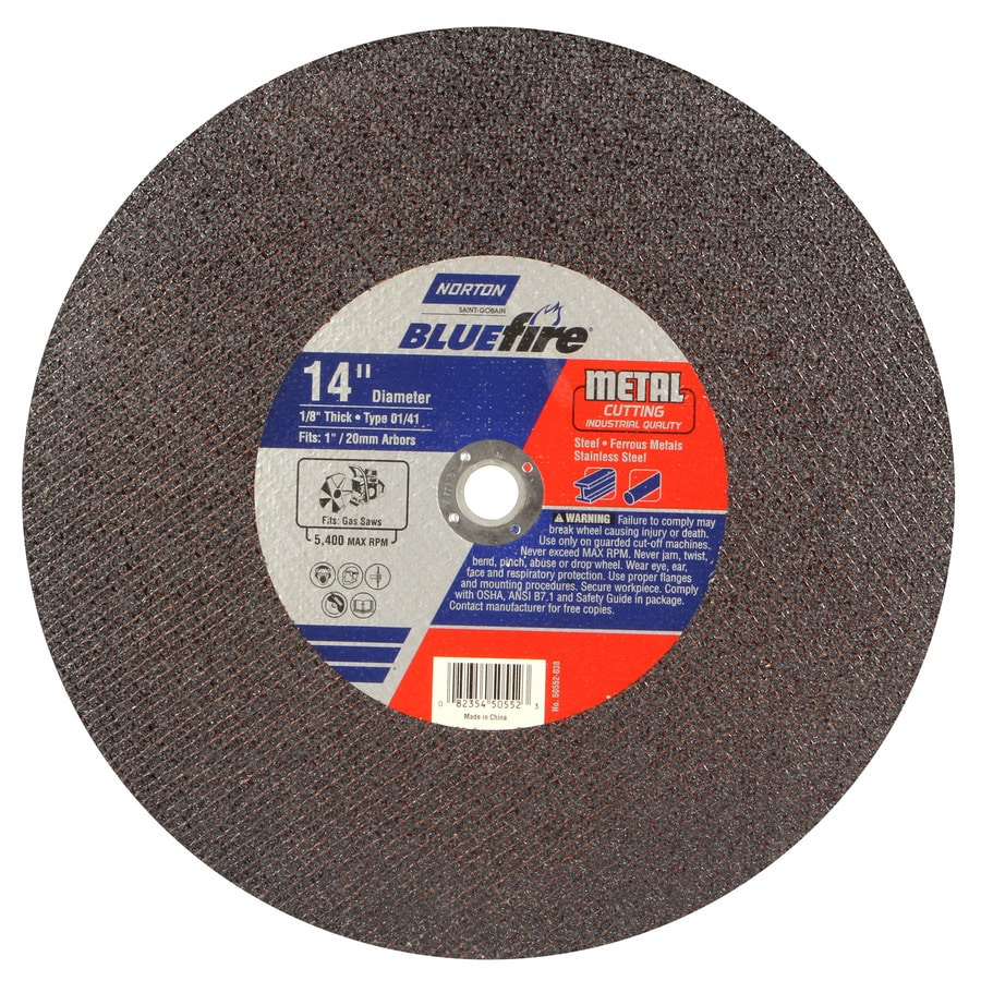 Norton Bluefire Bonded Abrasive 14-in Cut-Off Wheel