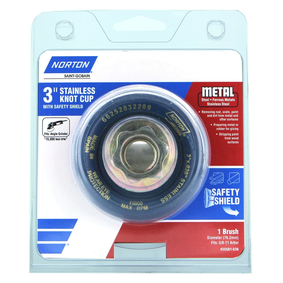 Norton 3 x 5/8-11 Stainless Knot Cup