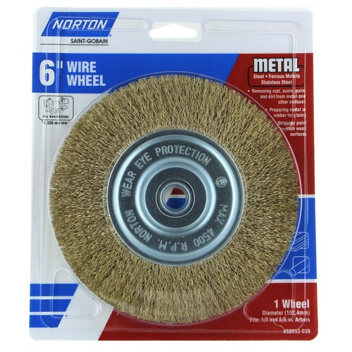 Norton 50592 038 6 In Course Wire Brush Wheel Bench