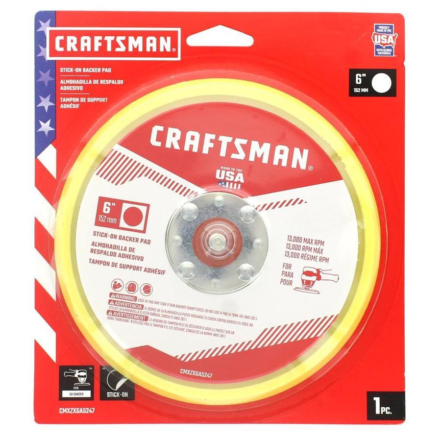 Craftsman 6 Inch Pneumatic Sander Back-Up Pad