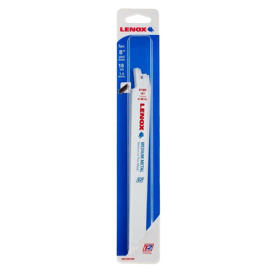 LENOX 5-Pack 8-in 18-TPI Bi-Metal Reciprocating Saw Blade Set