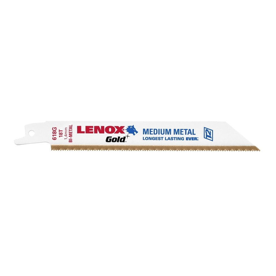LENOX 5-Pack 6-in 18-TPI Bi-Metal Reciprocating Saw Blade Set