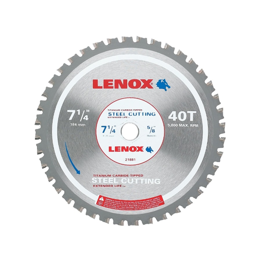 LENOX 7-1/4-in 40-Tooth Continuous Carbide Circular Saw Blade