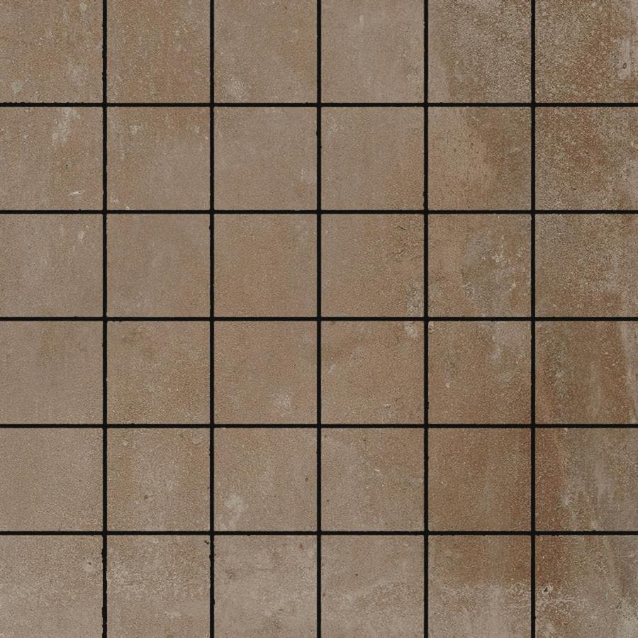FLOORS 2000 Metropolitan Brown Uniform Squares Mosaic Porcelain Floor and Wall Tile (Common: 12-in x 12-in; Actual: 11.81-in x 11.81-in)
