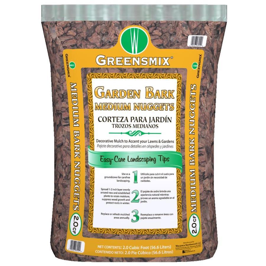 Greensmix 2-cu ft Brown Hardwood Bark