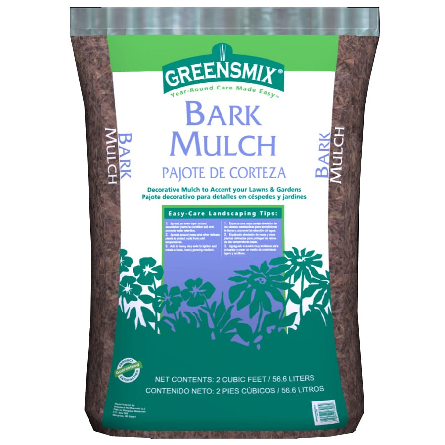Greensmix 2 cu ft Brown Nuggets Hardwood Bark Mulch