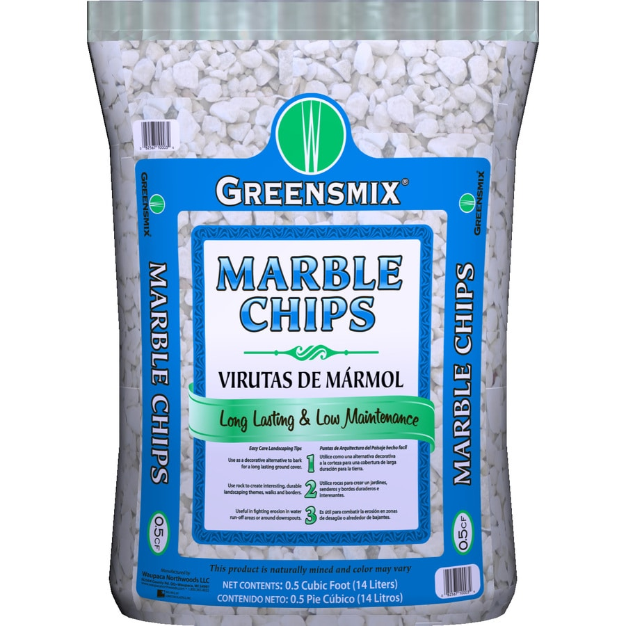 Greensmix 0 5 Cu Ft White Marble Chip At Lowes Com