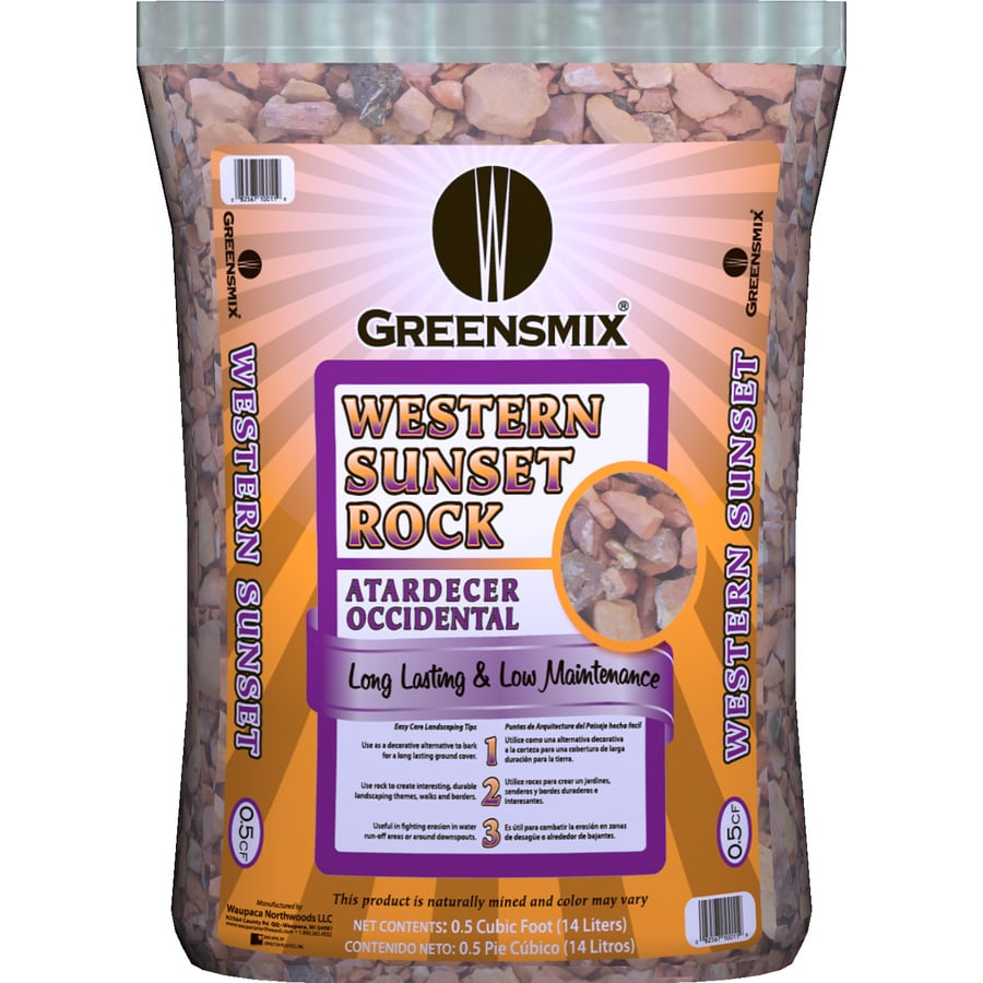 Greensmix 0.5-cu ft Western Sunset Rock