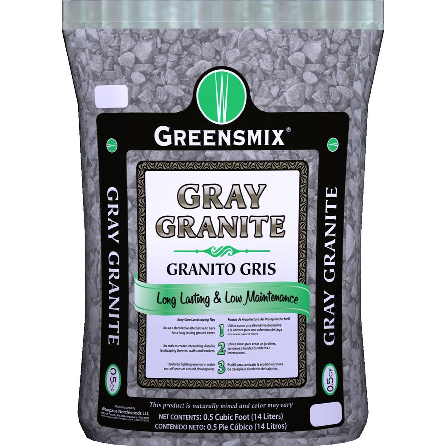 Greensmix 0.5-cu ft Gray Granite Rock