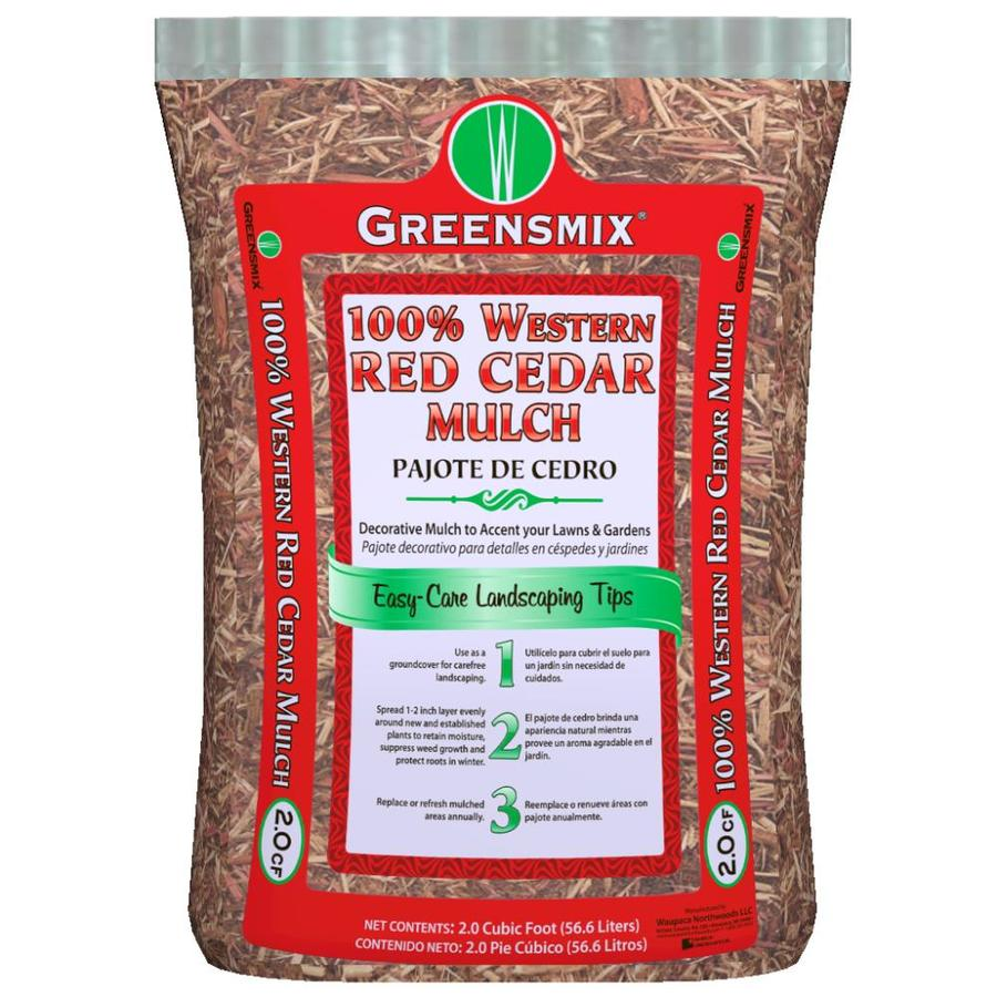 Greensmix 2-cu ft Red Cedar Mulch