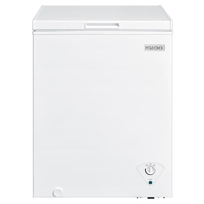 igloo 5cu ft chest freezer white energy star in the