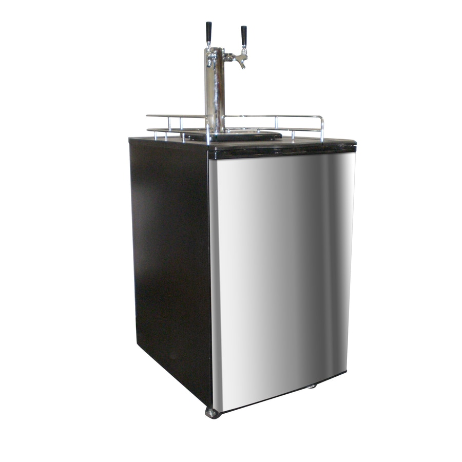 Nostalgia Half-Barrel Keg Stainless Steel Manual Freestanding Kegerator