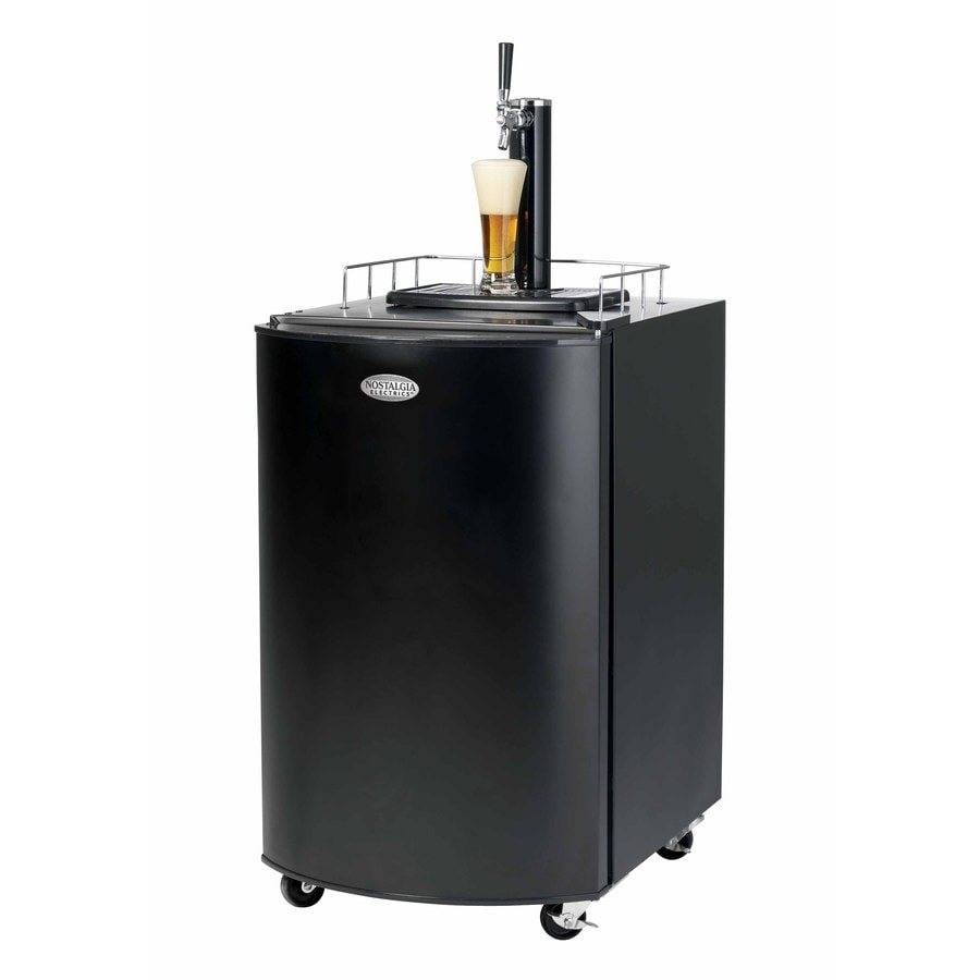 Nostalgia Electrics Black Freestanding Kegerator