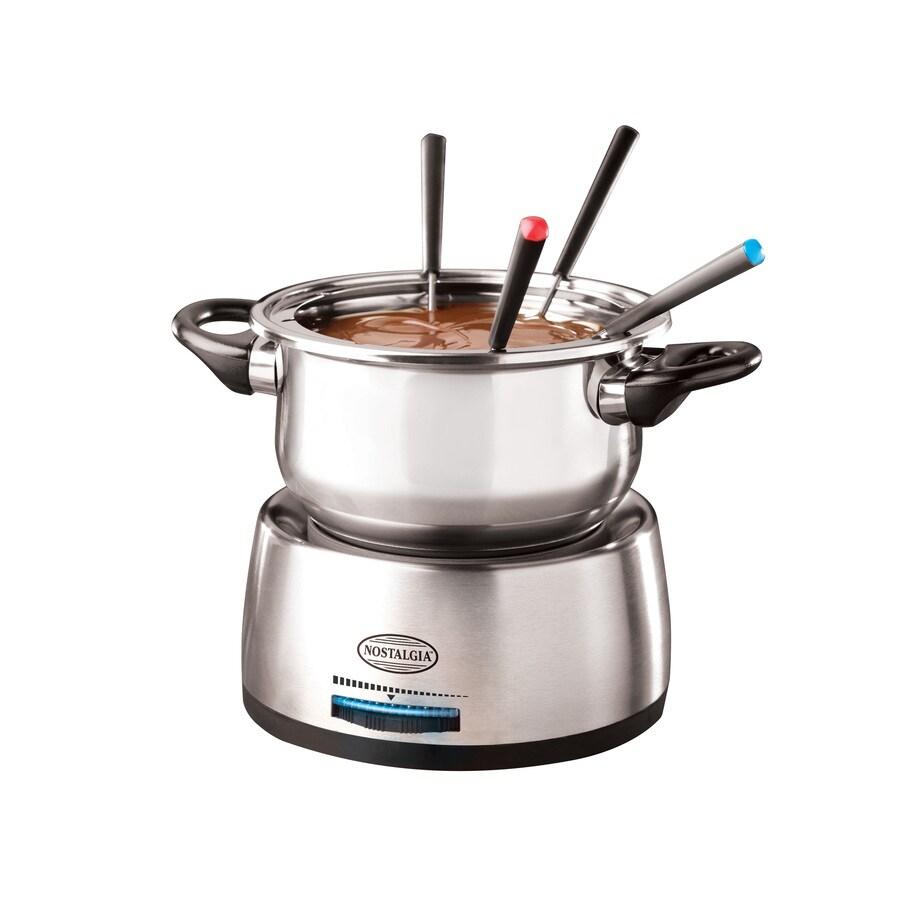Nostalgia Electrics 68-oz Stainless Steel Fondue Pot