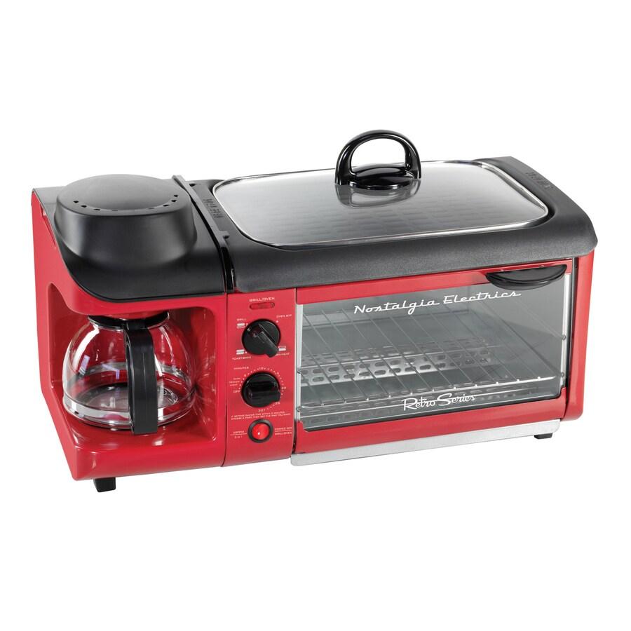 Nostalgia 4-Slice Red Toaster Oven
