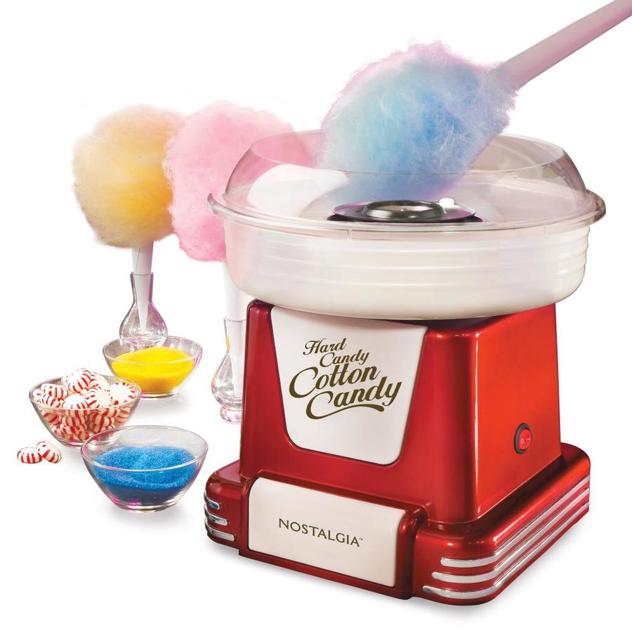 Nostalgia Red Countertop Cotton Candy Maker