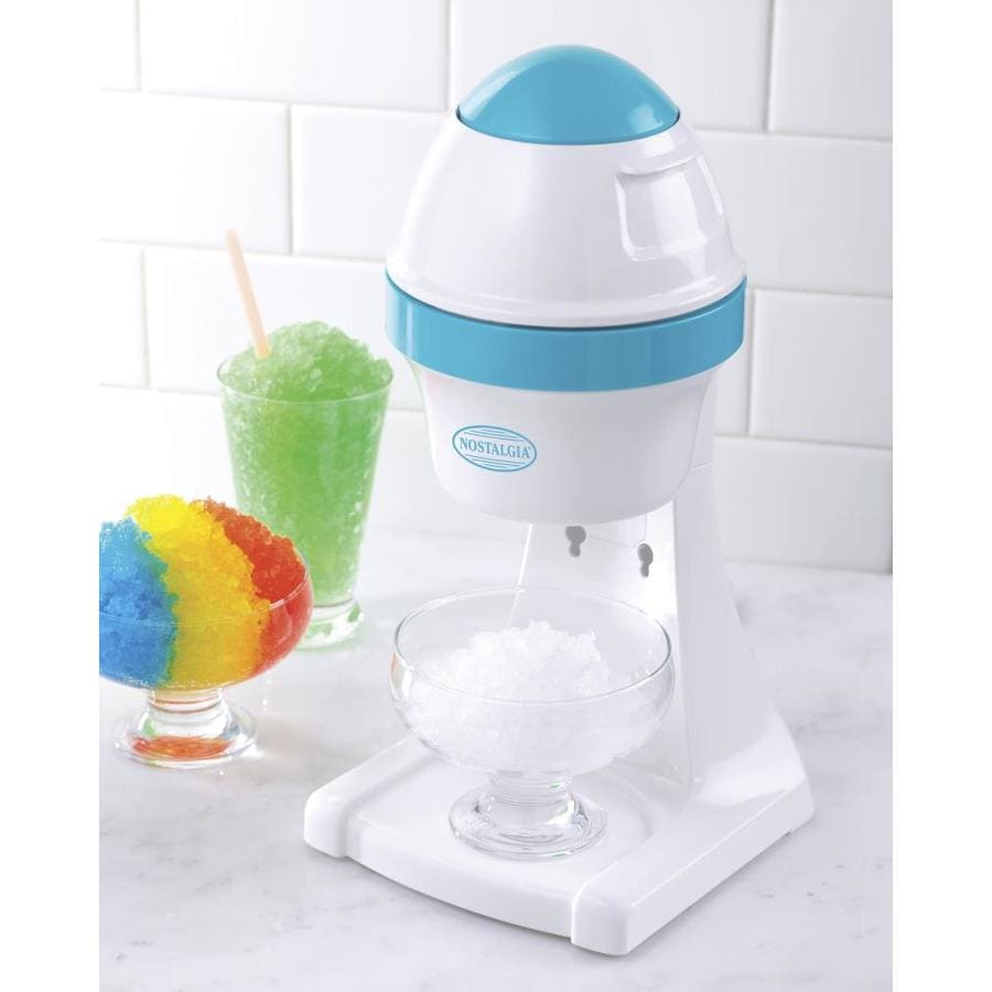 Nostalgia White/Blue Snow Cone Maker