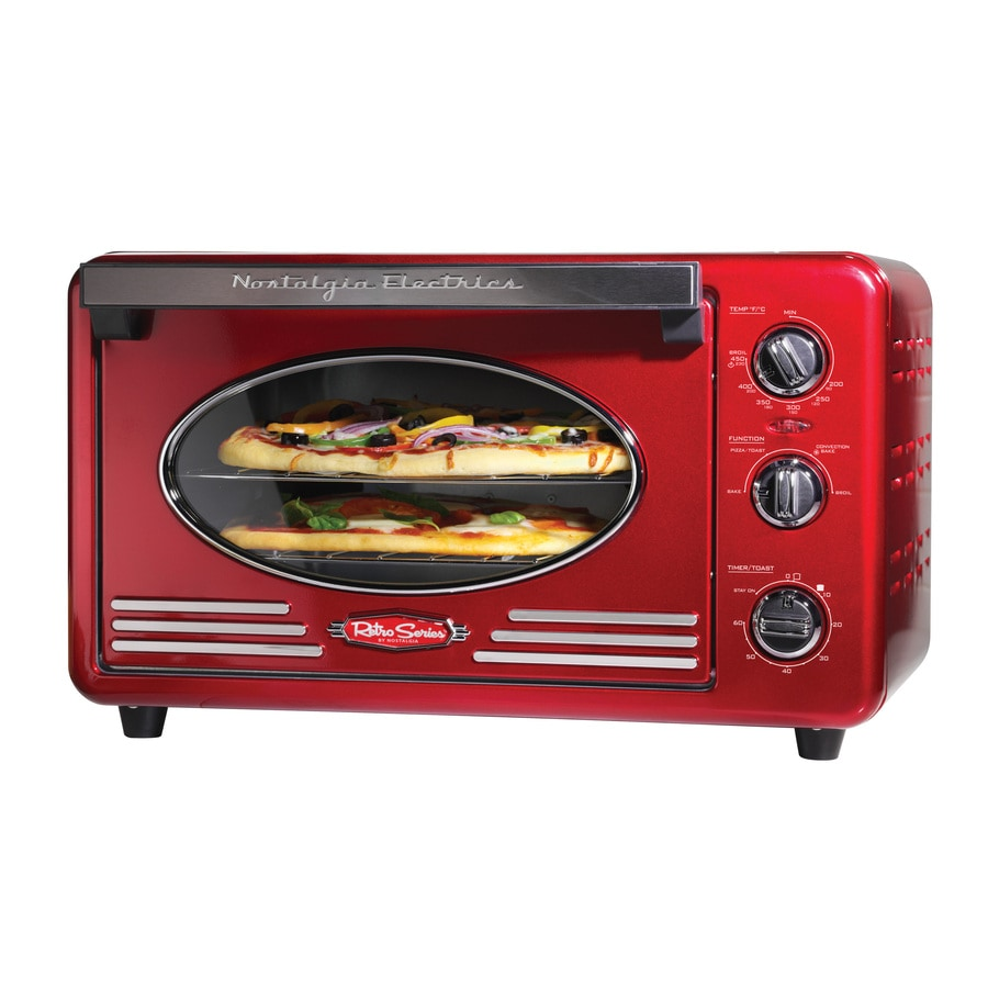 Nostalgia Electrics 6-Slice Red Toaster Oven